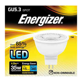 Energizer GU5.3 MR16 LED spot 4,8w 345lumen (35w)